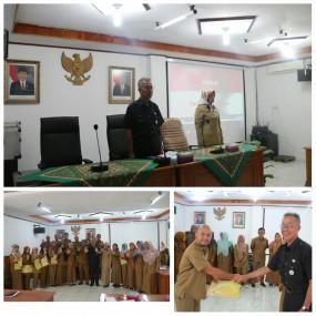 Penyerahan Piagam Penghargaan Pegawai terbaik   1  dan 2 di lingkungan Inspektorat Daerah Provinsi Sumatera Barat  periode semester I tahun 2019